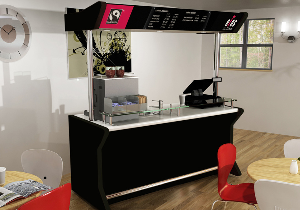 Black coffee cart