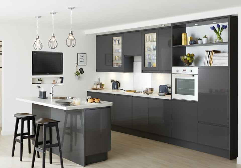 Kitchen Installations with island and seating