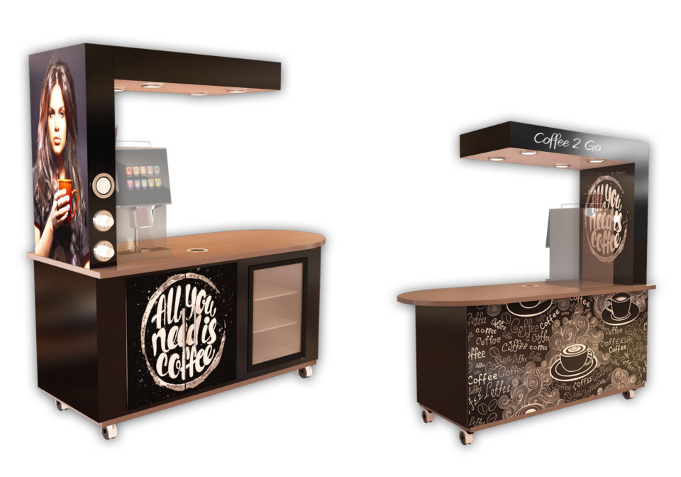 Brown coffee cart