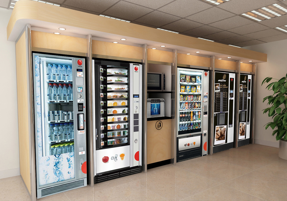 Brown Modular Vending System