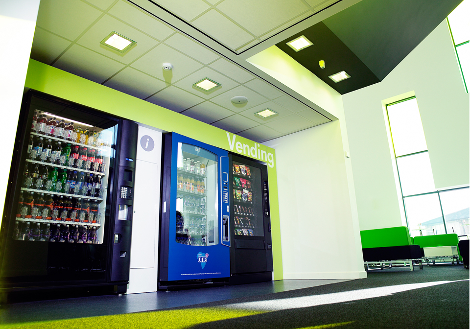 Bespoke Vending Machines Green Surround