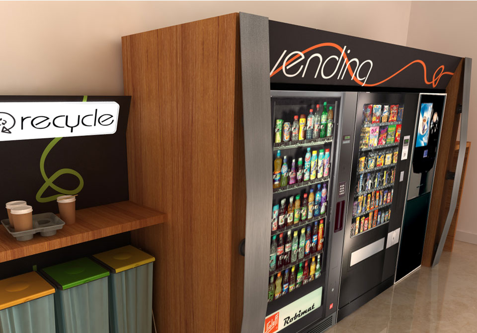 Bespoke Vending Machines brown surround