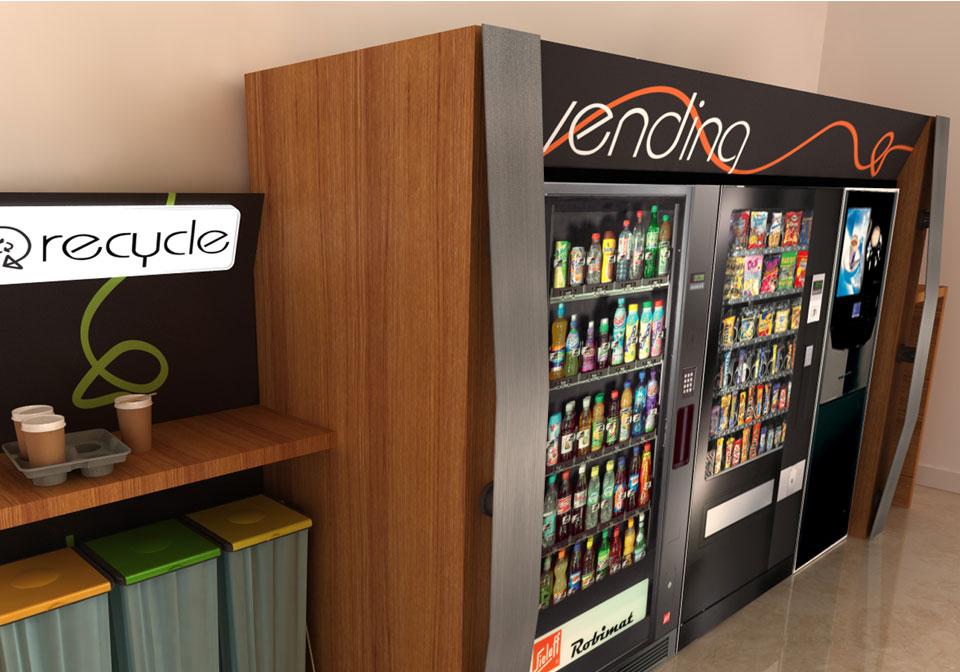 Bespoke Vending Machines brown surround