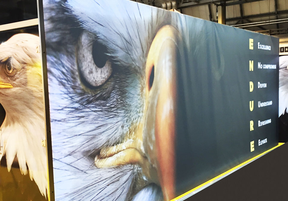 Exhibition Banner Design Eagle Head