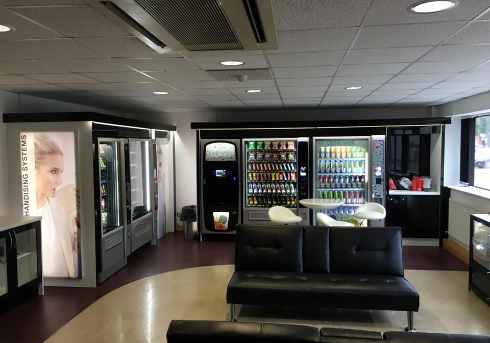 Black and Grey Bespoke Vending Machines