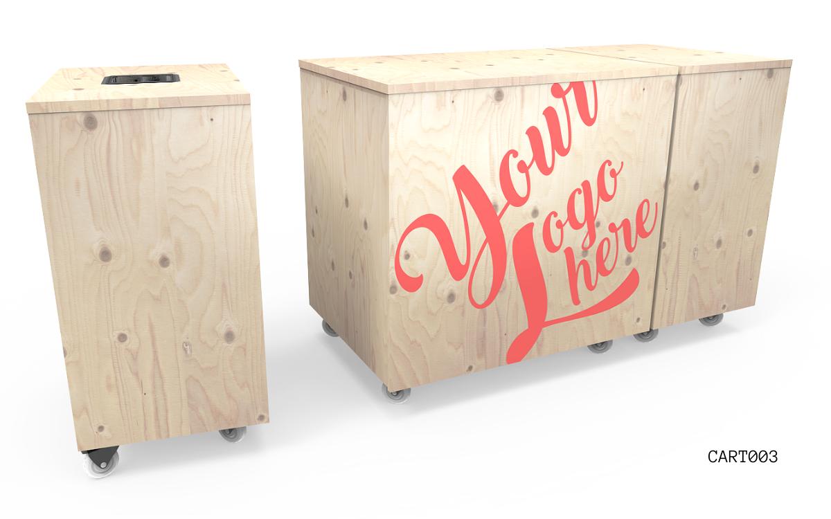 Nebrak Coffee Cart MODULAR Catering Furniture