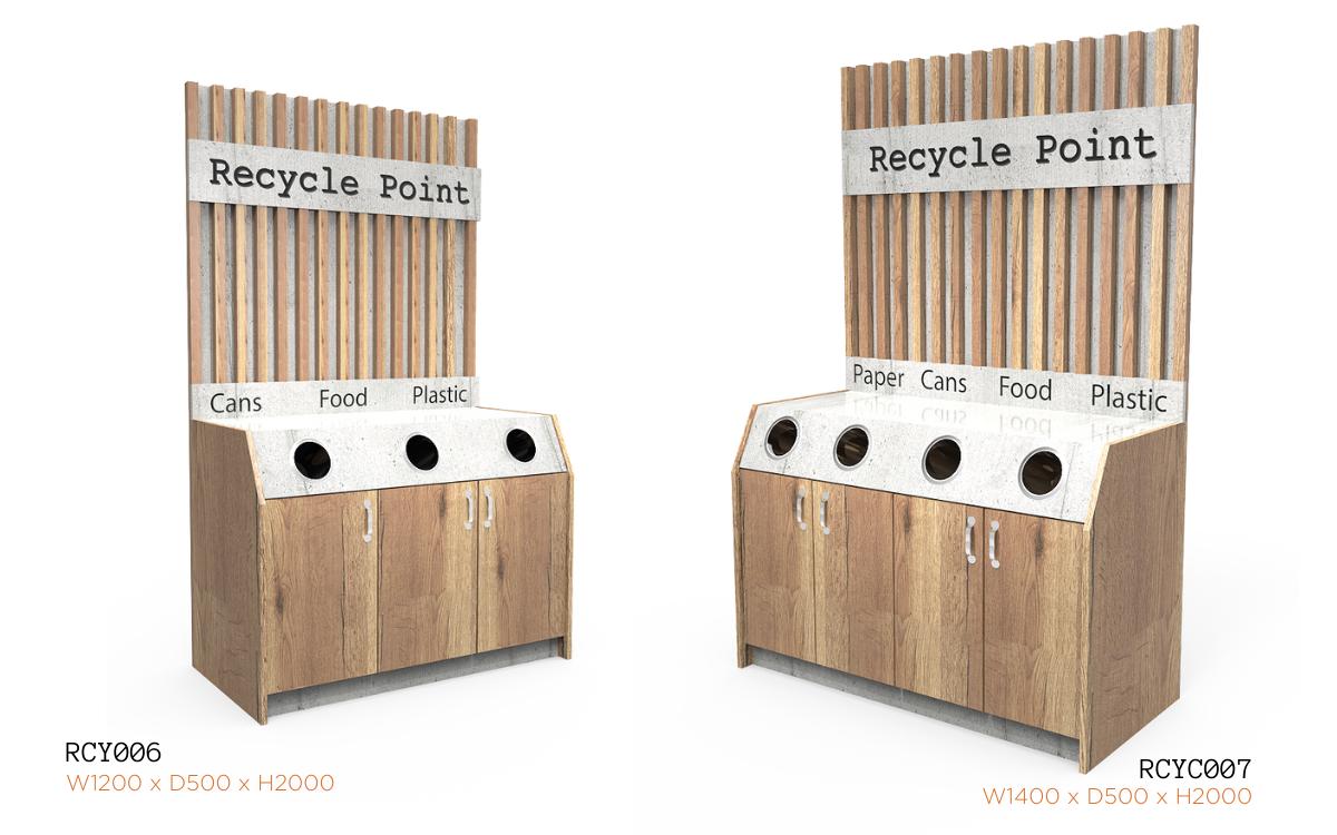Nebrak Recycling Units with Back Panel RCYC006/007