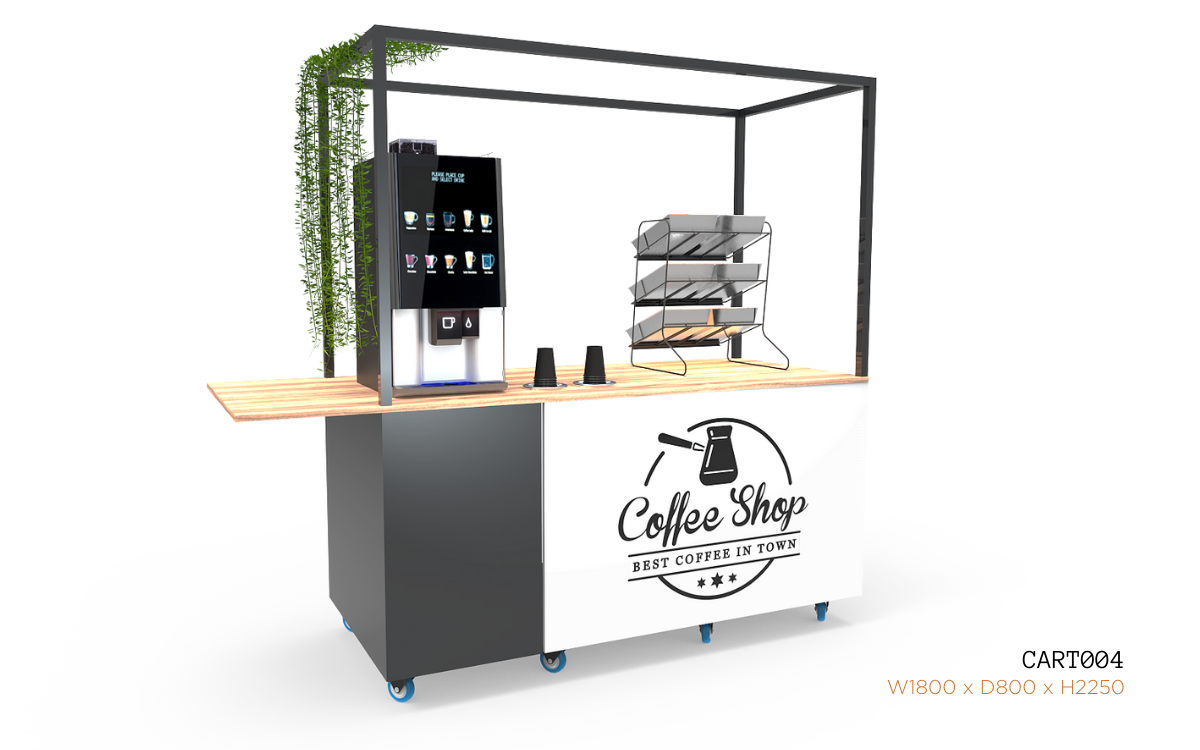 Nebrak Coffee Cart Small Demo CART004